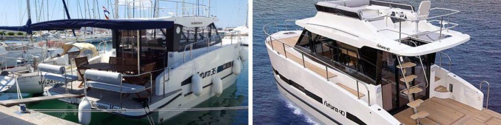 jacht Futura 36 i Futura 40 platformy kapielowe