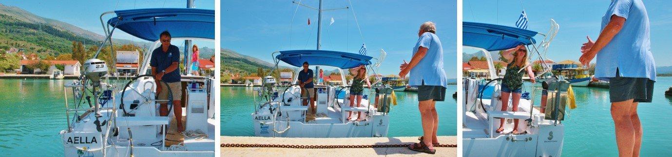 Cumowanie Jachtu Rufą