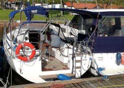 antila 33 rufa jachtu z bimini